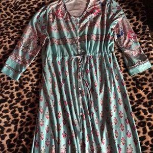 Boho style Maxi dress size x-large